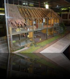 Maquette de la dernière demeure de Gauguin